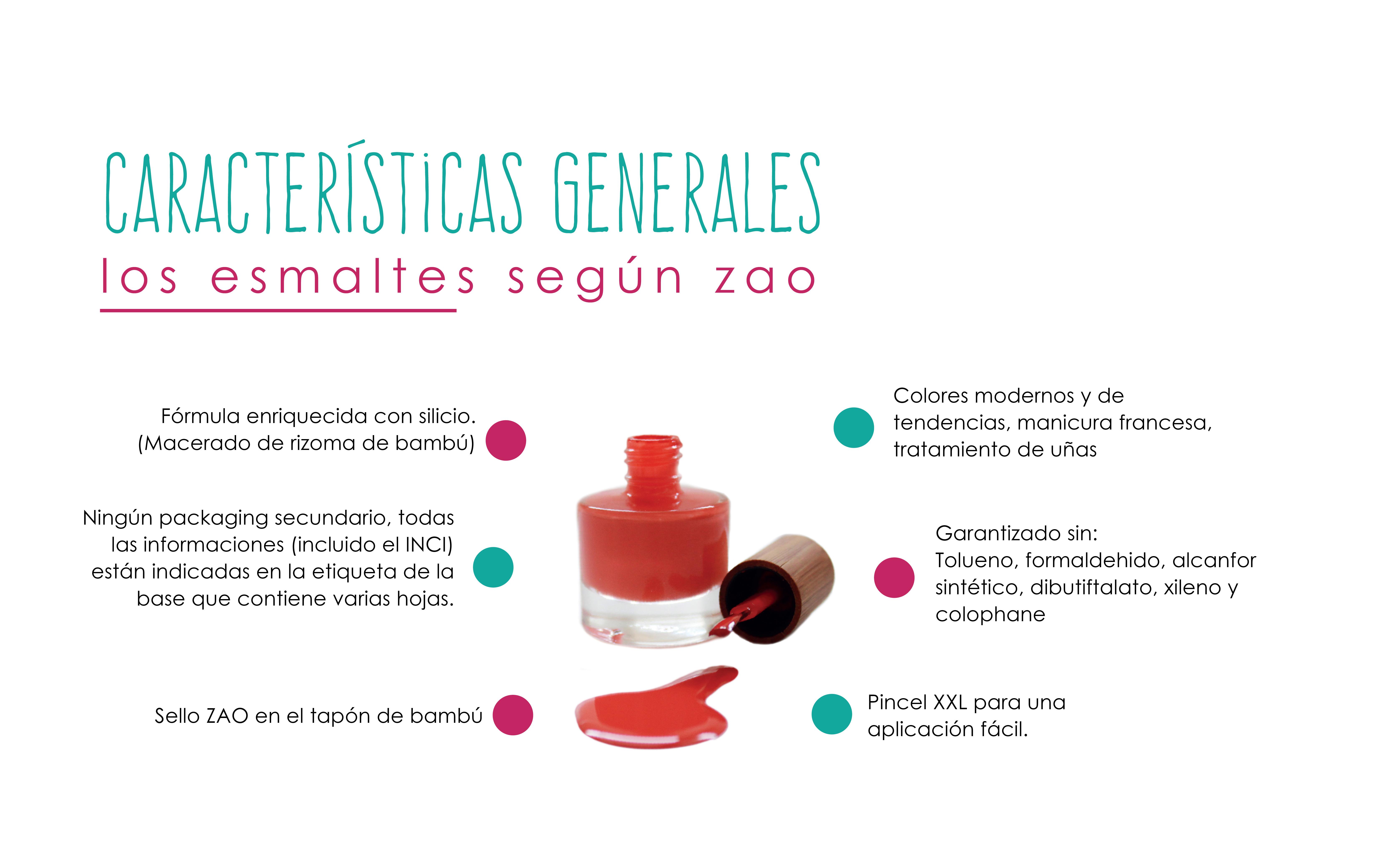 Esmaltes de Uñas ZAO - 8 Free - Maquillaje ecológico Zao Makeup