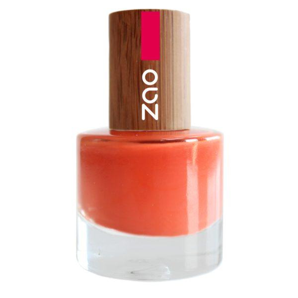 esmalte de uñas zao 647 orange