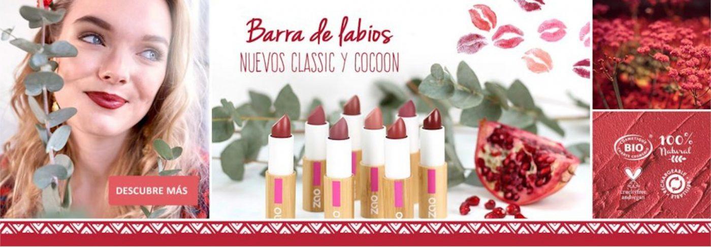 Barras de labios ecológicas Zao Makeup