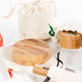 zao maquillaje sostenible con envases de bambú